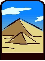 Egyptian Pyramids Clip Art http://letsplaymath.net/2007/08/11/egyptian-math-puzzles/