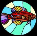 Stained-glass fish