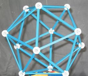 blue icosahedron, by shonk