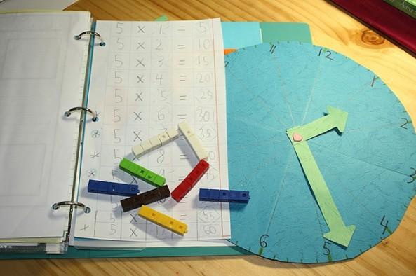 math notebooking clock, large