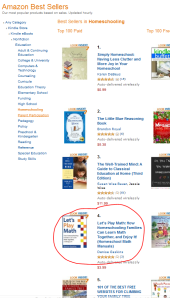 Kindle Homeschooling Bestseller List: #4