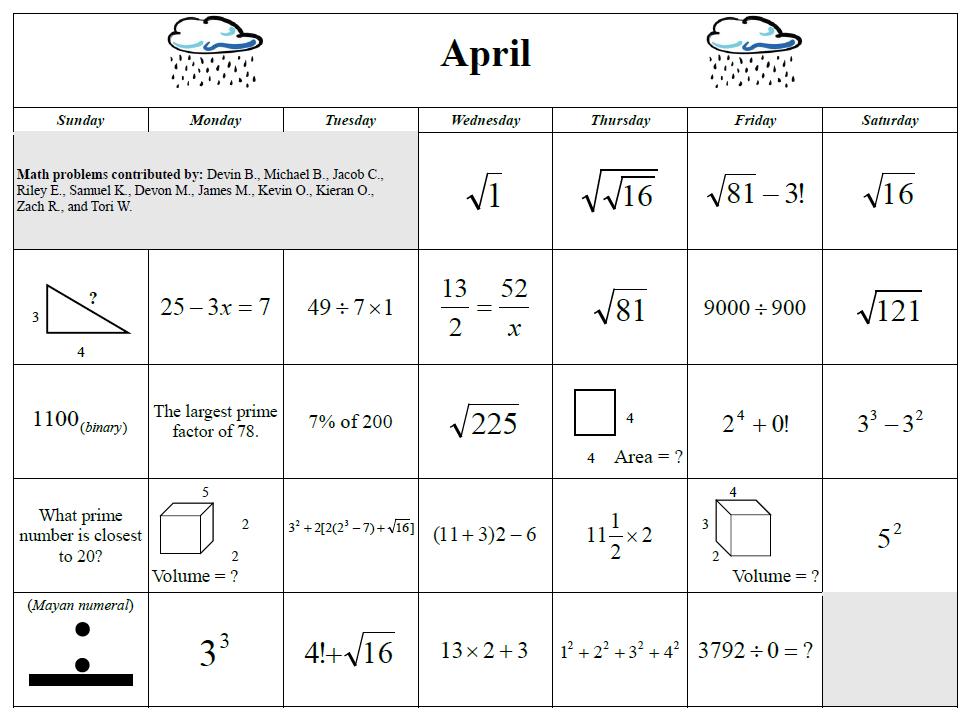 math worksheet : april 2015 math calendar  denisegaskins  : Math Calendar Worksheets