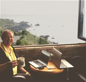 Blogging while we watch the tide come in. :)