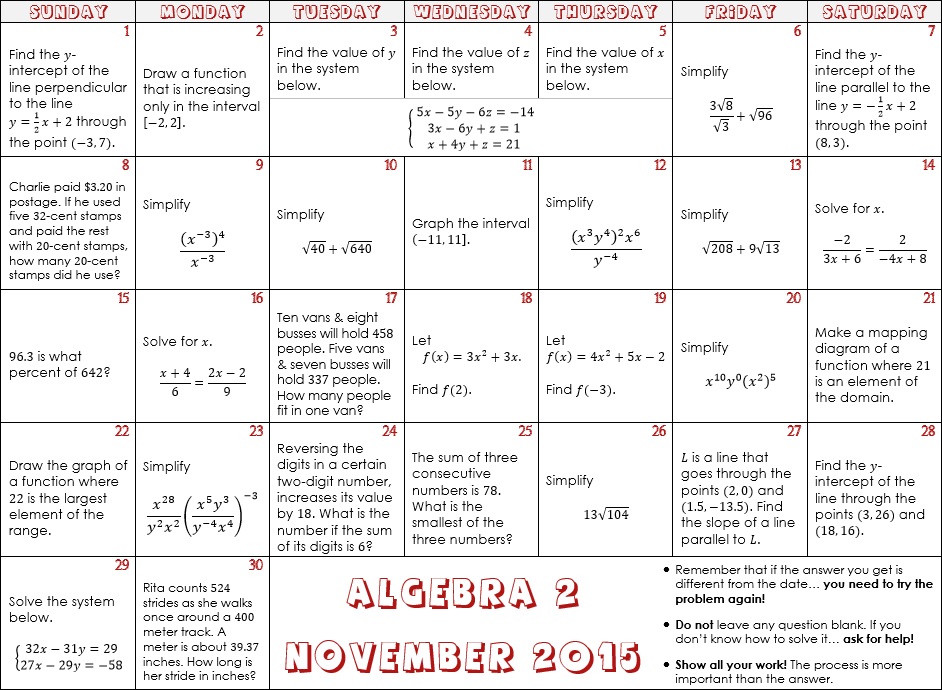 math worksheet : november math calendars  denisegaskins  : Calendar Math Worksheet