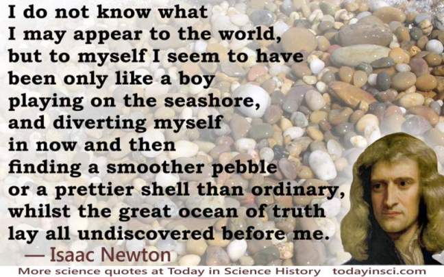 Isaac Newton seashore quote