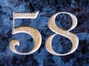 No 58 - gold on blue