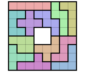 Pentomino_Puzzle_Solution_8x8_Minus_Center.svg