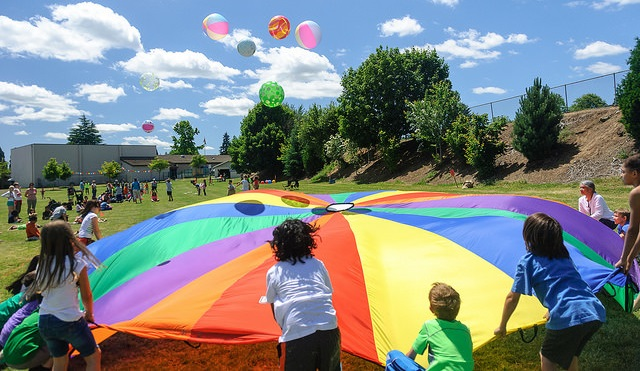 Templeton Elementary field day beach ball games