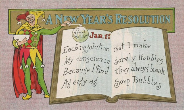 PostcardNewYearsResolutionSoapBubbles1909
